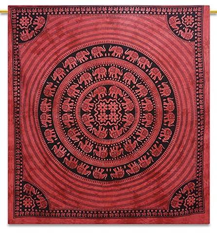 Indian Mandala Wandbehang DÃ © cor Tapestry Red Full Size böhmischer Tapisserie-