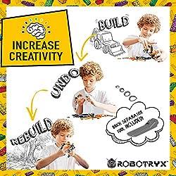 JitteryGit Robot Jouet   3 en 1 Set créatif et divertissant   Jeux de Construction pour garçons de 6 à 12 Ans Cadeau Jouet pour Enfants   Kit d'affiches Gratuit Inclus