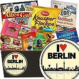 I love Berlin | Schokoladen Set | Geschenkset | I love Berlin | Schokoladenkorb | Männer Geschenke Berlin | Geburtstagsüberraschung Berlin | GRATIS DDR Kochbuch