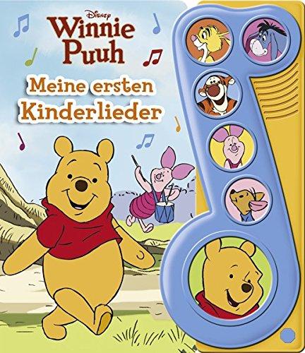 Winnie Puuh - Meine ersten Kinderlieder - Liederbuch mit Sound - Disney-Pappbilderbuch mit 6 Melodien