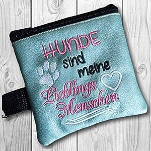 Kotbeutelspender Hunde sind meine Lieblingsmenschen, eisblau
