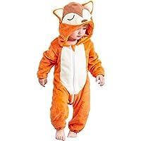 MICHLEY Hooded Romper Baby Boys Girls Flannel Pyjamas 2-36 Months