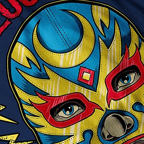 El Luchador Ringer Mexikaner Damen Schwarz S-2XL Muskelshirt | Wellcoda Marine