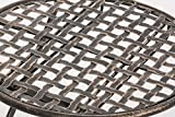 CLP Eisen-Klappstuhl VAHAN Design I Klappbarer Gartenstuhl mit edlen Verzierungen I In Verschiedenen Farben erhältlich Bronze für CLP Eisen-Klappstuhl VAHAN Design I Klappbarer Gartenstuhl mit edlen Verzierungen I In Verschiedenen Farben erhältlich Bronze