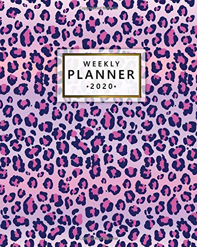 2020 Weekly Planner: Monthly Weekly Daily Views with To-Do's, Funny Holidays & Inspirational Quotes, Vision Boards, Notes & More | 2020 Organizer, Agenda & Diary | Cute Purple Jaguar Print