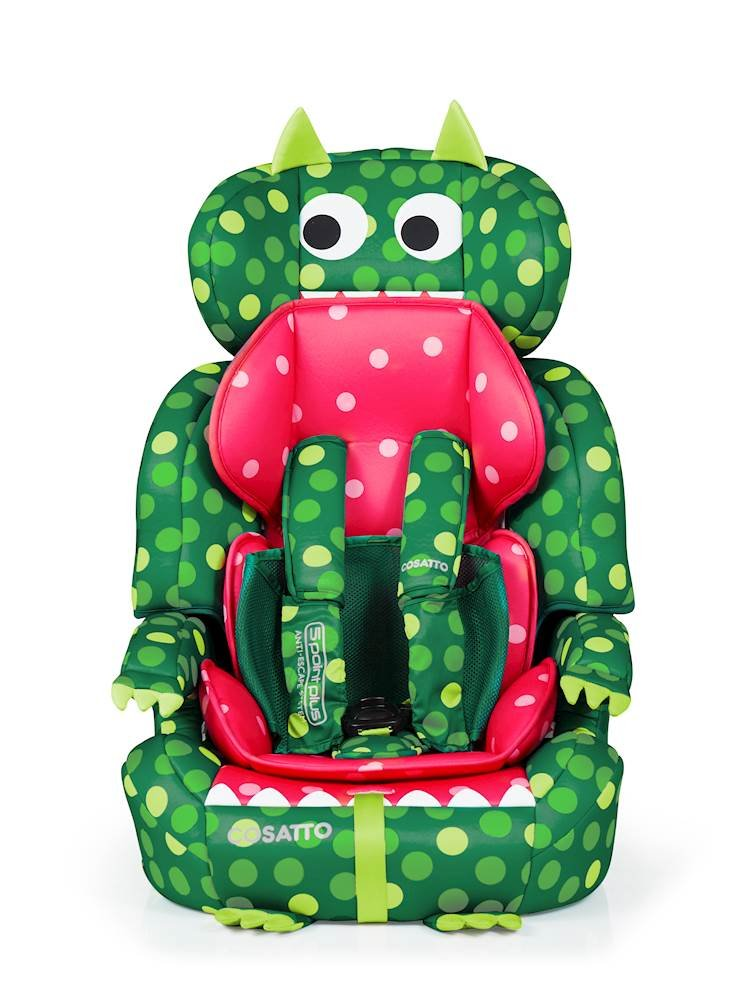 Cosatto Zoomi Group 123 Car Seat, 9-36 kg, Dino Mighty Cosatto Suitable from 9 kg-36 kg (9 months - 12 years approximately), Zoomi is an investment; it fits forward-facing with a standard 3-point vehicle seat belt It features the exclusive five point plus Anti-Escape system, great for keeping little wrigglers in place, plus side impact protection for in-car security The comfy padded seat and adjustable headrest grow with your child; it is easy to clean with removable washable padded liner and covers 1