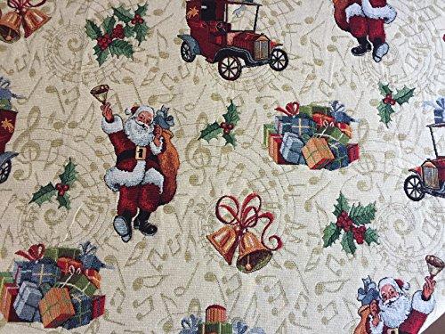 Bezaubernde Weihnachtsdecke, Gobelin, 140x140 cm, Noel, Oldtimer - Santas Oldtimer