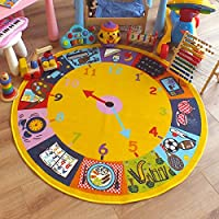 Superb Kids/Childs Rug Clock design Large Round 1.33m x 1.33m (4