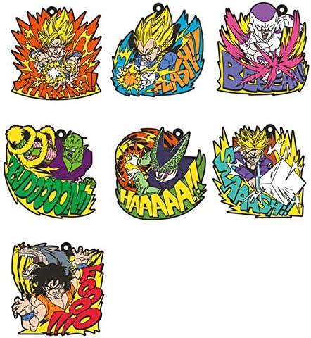 ensky Dragon Ball Z Rubber Strap Box Set of 7 Ensemble Porte-clés Pendentif Oficial Japón   Exceptionnelle