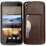 BYD-Braun HTC Desire 828w Tasche PULederCase Flip