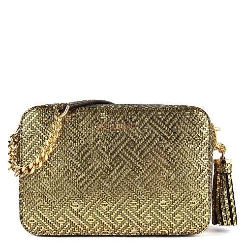 MICHAEL by Michael Kors Ginny Metallic gold Kameratasche Medium Damen Gold one size Michael Kors Handtaschen Gold Kette