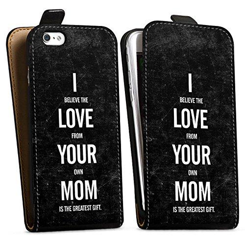 Apple iPhone X Silikon Hülle Case Schutzhülle Mama Humor Liebe Downflip Tasche schwarz