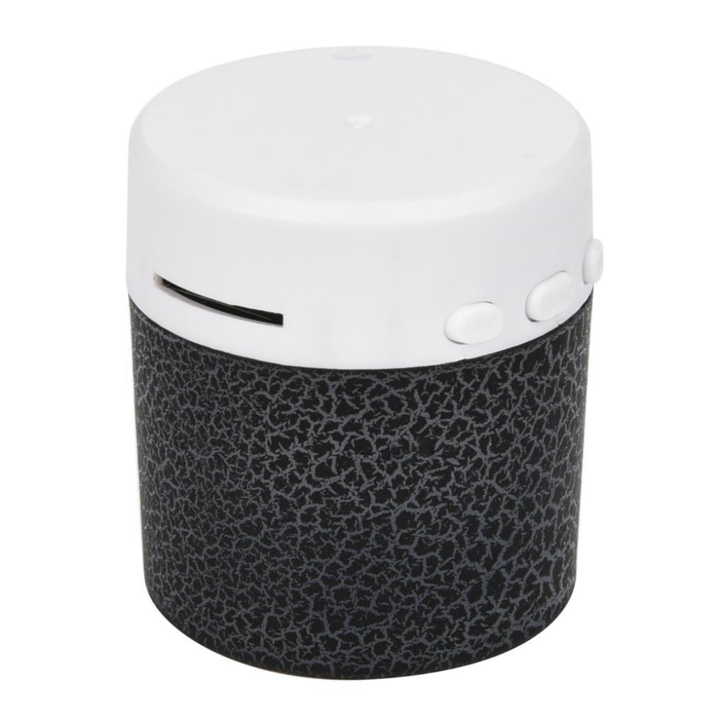 Portable mini wireless stereo Bass altoparlanti lettore musicale wireless TF speaker by Mml, Black