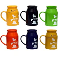 kids fashion plastic milk bottle shape mugs (pack of 12)- Multi color