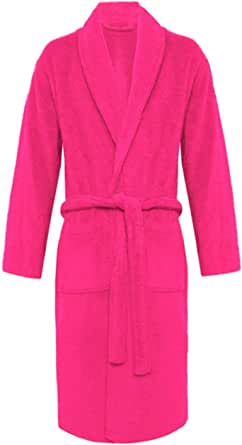 Crazy Girls Mens Bathrobe Luxury Soft 100% Egyptian Cotton with Pockets and Belt Dressing Gowns Towelling Bath Robe Terry Towel Shawl Collar Nightwear Loungewear Bathrobes
