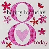 Claire Giles Alter 8Jahre Mädchen Geburtstag Karte