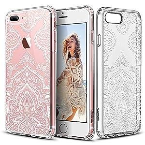 Capa para iPhone 7 Pluscom mandala Folhas Brancas