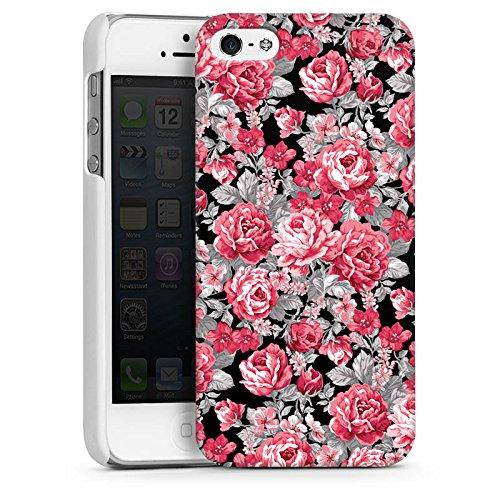Apple iPhone 5 Housse Outdoor Étui militaire Coque Fleurs Fleurs couleurs CasDur blanc