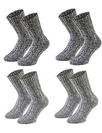 Tobeni Lot de 4 paires de chaussettes ultra douces en laine de mouton