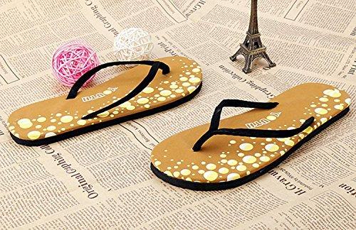 Minetom Infradito Donna Semplici alla Moda Scarpe da Casa Ciabatte Grano