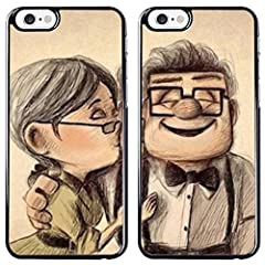 Idea Regalo - Candyshop Coppia di Cover iPhone 6/6S - Carl e Ellie - Nonnetti del Film Up - Case Protettiva,Rigida, per Apple iPhone 6/6S - Disponibili per più di 100 Modelli di cellulari -
