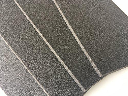 Kantenschutz für Wände Garage und Box Auto, 4 er Set Streifen, selbstklebende Platten aus Polyethylen – ca. 45 x 16,5 x 1,0 cm – Farbe RAL Anthrazit – Auto Lackierung Schutz, auch als Stosstangen Puffer, maximaler Lack Schutz. Antracite 7016