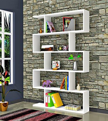 Core biblioth que blanc brillant tag re de rangement tag re pour livres tag re pour - Etageres pour salon bibliotheques bureau ...