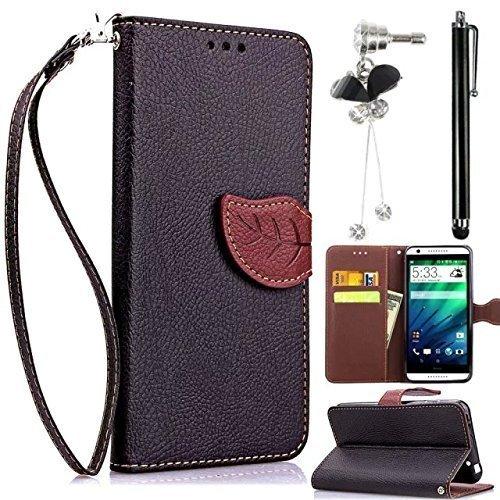 Sunroyal® Flip Accessorio Custodia per Sony Xperia Z2 (5.2 pollici) TPU Silicio Foglia Modello Chiusura (Foglia Telefono)