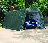 Shelter Logic Foliengarage Garage 29,2 m² grün // 400 x 730 x 300 cm (BxTxH) // Autozelt, Allzweckgarage und Überdachung