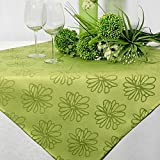 Mitteldecke 85x85 cm grün Blumen / grün