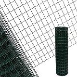 Estexo Gartenzaun 1,2x10 M Maschendraht Gitterzaun Maschung 7,5x5 cm Schweißgitter Zaun