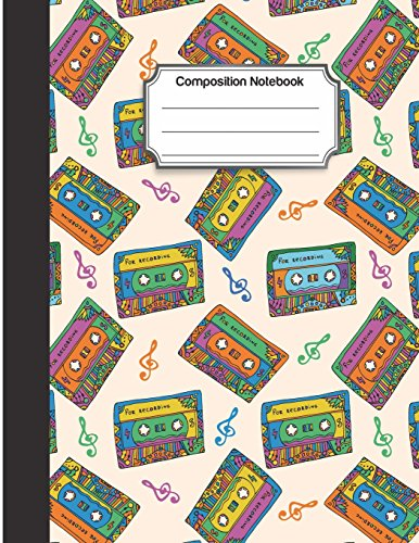 Composition Notebook: Color tape cassette drawing pattern : College Ruled School Notebooks, Composition Notebook, Subject Daily Journal Notebook : 120 Lined Pages (Large, 8.5 x 11 in.)