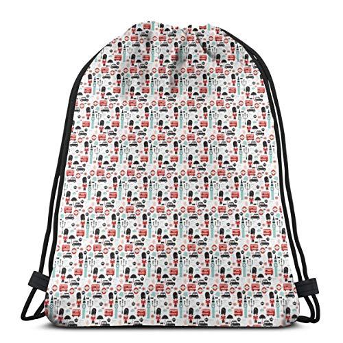 Kinder Muster XXS_317 Kordelzug Rucksack Umhängetaschen Leichte Sporttasche zum Wandern Yoga Gym Schwimmen Reisen Strand ()