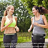 Gürteltasche Hüft / Running Belt für Männer und Frauen 2 Große Fächer 1 Kleine Schlüsseltasche Wasserabweisend Verstellbar Reflektierend Weich Und Angenehm für Handy Bis (6 Zoll) Geeignet für Outdoor-Aktivitäten … -