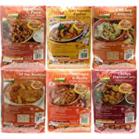 Hot Pack of 6 Self Heating Meals Mixed Flavours for Camping 17