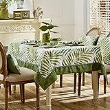 Nclon Amerikanischen Land Tischdecke,Wohnzimmer Europa Rechteckige Quadratische Esstisch Retro Tischdecke Luxus Atmosphäre Tischtuch tischwäsche-B 120 * 120cm