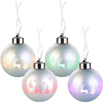 Beleuchtete Christbaumkugeln.Amazon De Lunartec Led Christbaumkugeln Beleuchtete Weihnachtsbaum