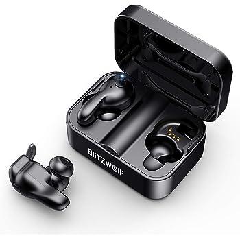 Auricolari Wireless Reali BlitzWolf Bluetooth V5,0 TWS Cuffie Wireless in Ear 3D Stereo Suono Scatola Ricarica Incorporato per Casa, Auto, Sport Palestra, per iPhone, Samsung, Android, iOS Smartphone