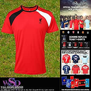 Liverpool Fc Official Replica Football Performan T-shirt - Number 1 One Dad Gift from Wall Smart Designs