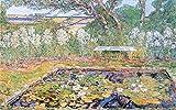 Das Museum Outlet–A Garden auf Long Island by Hassam, gespannte Leinwand Galerie verpackt. 147,3x 198,1cm