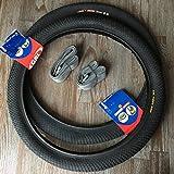 2x GRL Puncture Defence 20 Zoll Reifen + AV Schläuche BMX Freestyle Fahrrad Reifen Mantel 1mm Pannenschutz 20x2.00   50-406