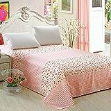 Puro algodón tela cruzada lino/Pedazo de hojas de doble cama de algodón pesado del sola del-F 230x245cm(91x96inch)