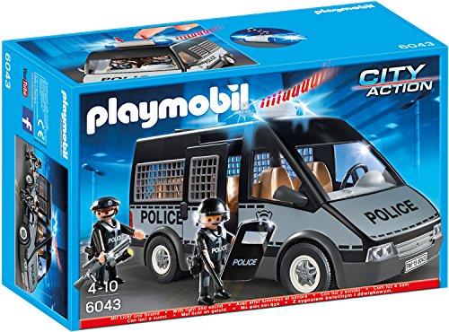Preisvergleich Produktbild PLAYMOBIL 6043 - Polizei-Mannschaftswagen mit Licht und Sound