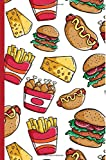 Burger Fries 6x9 Lined Blank Notebook Journal 200 Pages