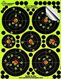 """Confezione da 25 - 10.1 cm """"Stick & Splatter"""" adesivo Splatterburst shooting target - Immediatamente vedere i tuoi colpi all'impatto - Perfetta per tutte le armi da fuoco, fucili, pistole e fucili d'aria!"""