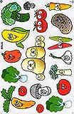 Gemüse Brokkoli Mais Kartoffeln Tomate Aufkleber 18-teilig 1 Blatt 270 mm x 180 mm Sticker Basteln Kinder Party