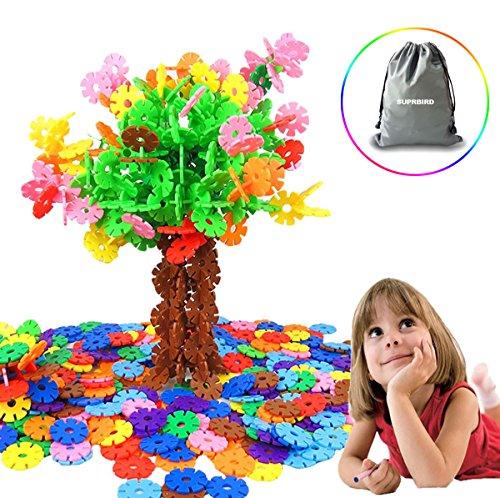 SUPRBIRD 500 piezas Niño Bebé de copos de nieve creativo de construcción de plástico de juguetes educativos de primera calidad Blocks Juguetes