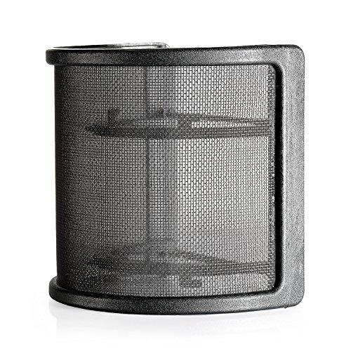 Neewer® Schwarz Archy Aufnahmestudiomikrofon Maske Schild Mic Windschutz-Knall-Filter mit elastischem Gummibänder