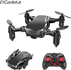 Conthfut Mini Quadcopter Drohne, C16 RC Mini Drone für Kinder und Anfänger-2,4g 6-Achse mit Schwebemodus, kopfloser Modus, 3D-Flip und Geschwindigkeitsverstellung Nano Quadcopter, Schwarz