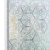 Homein Fensterfolie Selbsthaftend Klebefolie Fenster Sichtschutzfolie Bunt Glasfolie Fensterfolien Blickdicht Window Film Folie Sichtschutz Glastür ohne Kleber mit Motiv 3D Eiskristall 44.5 x 200 cm